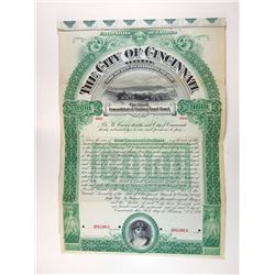 City of Cincinnati, 1897 Specimen Bond.