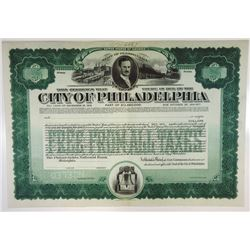 City of Philadelphia, 1919 Specimen Bond