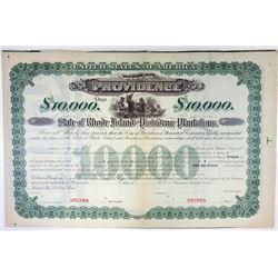 State of Rhode Island & Providence Plantations, 1910s Specimen Bond