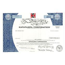 Havatampa Corp., 1976 Specimen Stock Certificate