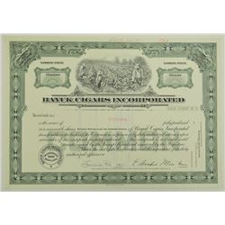 Bayuk Cigars Inc., 1977 Specimen Stock Certificate