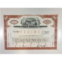 U.S. Tobacco Co., 1971 Specimen Stock Certificate
