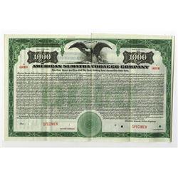American Sumatra Tobacco Co., 1920 Specimen Bond