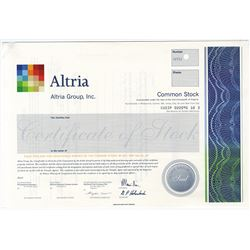 Altria Group, Inc. 2003 Specimen Stock Certificate.