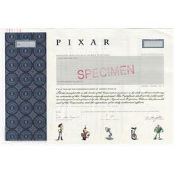 PIXAR, 2005 Specimen Stock Certificate with Steve Jobs Facsimile Signature.