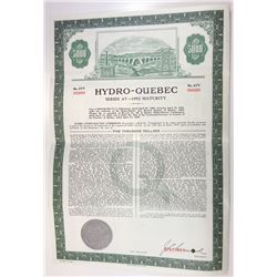Hydro-Quebec , 1966 Specimen Bond