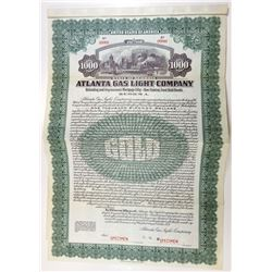 Atlanta Gas Light Co., 1920 Specimen Bond