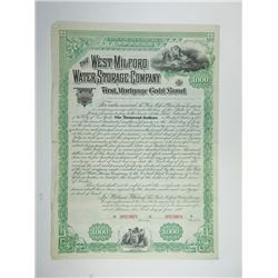 West Milford Water Storage Co., 1887 Specimen Bond