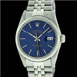 Rolex Men's Stainless Steel, QuickSet, Index Bar Dial, with Fluted Bezel - REF-407N4A