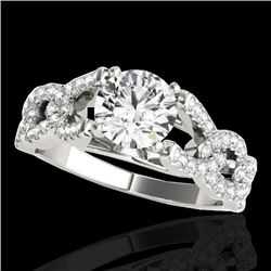 1.5 CTW H-SI/I Certified Diamond Solitaire Ring 10K White Gold - REF-218F2N - 35214