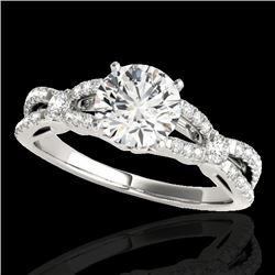 1.35 CTW H-SI/I Certified Diamond Solitaire Ring 10K White Gold - REF-167K3W - 35223