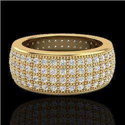 2.50 CTW Micro Pave VS/SI Diamond Eternity Ring 18K Yellow Gold - REF-249Y3K - 20884
