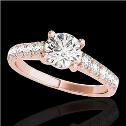 2.1 CTW H-SI/I Certified Diamond Solitaire Ring 10K Rose Gold - REF-402T8M - 35499
