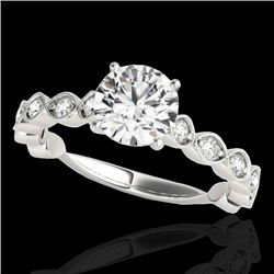 1.75 CTW H-SI/I Certified Diamond Solitaire Ring 10K White Gold - REF-200A2X - 34889