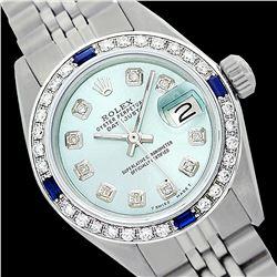 Rolex Ladies Stainless Steel, Diam Dial & Diam/Sapphire Bezel, Sapphire Crystal - REF-426M4F