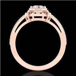 0.53 CTW VS/SI Diamond Solitaire Art Deco Ring 18K Rose Gold - REF-136K4W - 36870