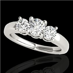 2 CTW H-SI/I Certified Diamond 3 Stone Solitaire Set 10K White Gold - REF-290H9A - 35439