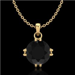 1 CTW Fancy Black Diamond Solitaire Art Deco Stud Necklace 18K Yellow Gold - REF-67Y3K - 37543