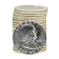 Roll of (20) 1963 Brilliant Uncirculated Franklin Half Dollars