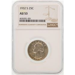 1932-S Washington Quarter Coin NGC AU53