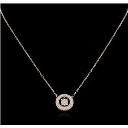 0.64 ctw Diamond Necklace - 14KT Rose Gold