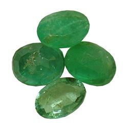 3.71 ctw Oval Mixed Emerald Parcel
