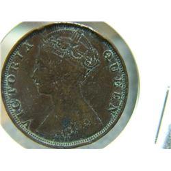 COIN - HONG KONG - 1 CENT - 1881