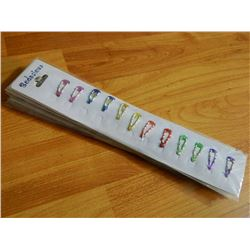 BODACIOUS HAIR CLIPS - NEW - CARDS OF 12 - 7 TTL - BRIGHT COLOURS