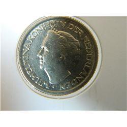 COIN - NEDERLANDEN - 25 CENTS - 1948