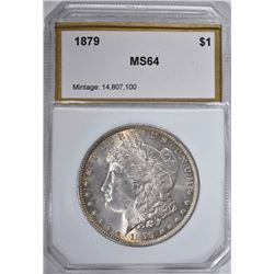 1879 MORGAN DOLLAR, PCI CH/GEM BU