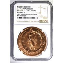 1950 HK-508 SO CALLED DOLLAR, NGC MS-64 RB