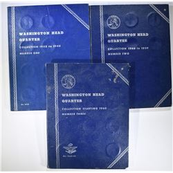 70-CIRC WASHINGTON QUARTERS IN FOLDERS