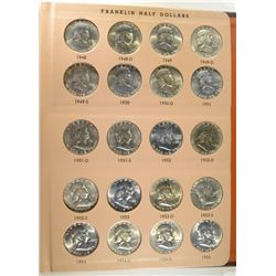 GEM BU FRANKLIN HALF DOLLAR SET 1948-63