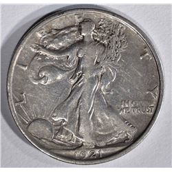 1921 WALKING LIBERTY HALF DOLLAR  FULL XF-AU