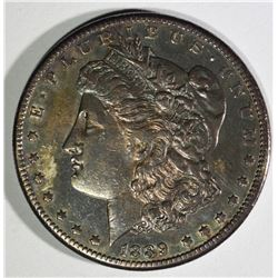 1889-CC MORGAN DOLLAR XF/AU TONED