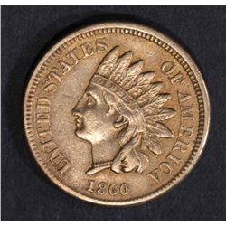 1860 INDIAN HEAD CENT POINTED BUST  CH.XF