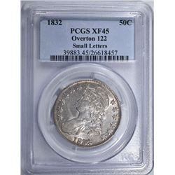 1832 CAPPED BUST HALF DOLLAR  PCGS XF45