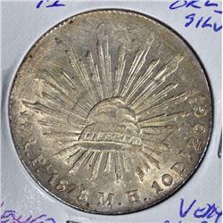 1878 PI SILVER 8 REALES  VERY CH.BU