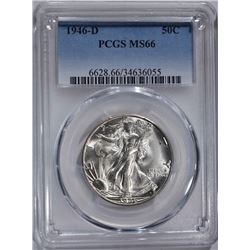 1946-D WALKING LIBERTY HALF DOLLAR  PCGS MS66