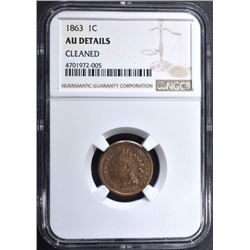 1863 INDIAN HEAD CENT NGC AU DETAILS