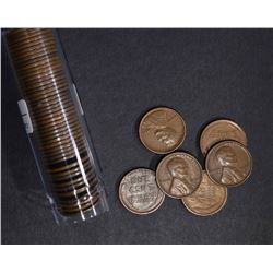 ROLL OF 50-1926-S LINCOLN CENTS, FINE