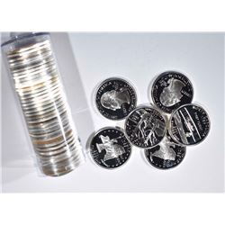 ROLL OF 40-90% SILVER 2001 STATE QUARTERS