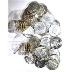 2-BU ROLLS MIXED DATE 40% SILVER KENNEDY HALVES