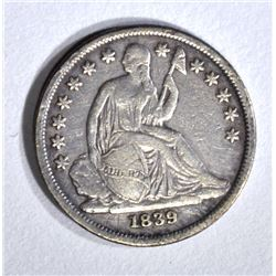 1839-O SEATED DIME, VF