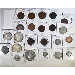 24 -BETTER FOREIGN COINS, SOME SILVER