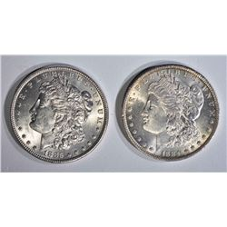2 - CHBU MORGAN DOLLARS; 1885 &