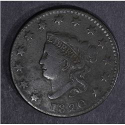 1820 LARGE CENT F/VF