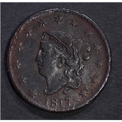 1817 LARGE CENT XF POROSITY