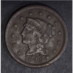 1849 LARGE CENT XF DARK
