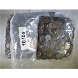 20 POUNDS MIXED COUNTRIES FOREIGN COIN LOT